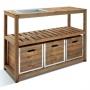 Table de préparation en bois 3 tiroirs