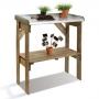 Table de préparation en bois 2 niveaux