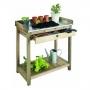 Table de préparation en bois 1 tiroir